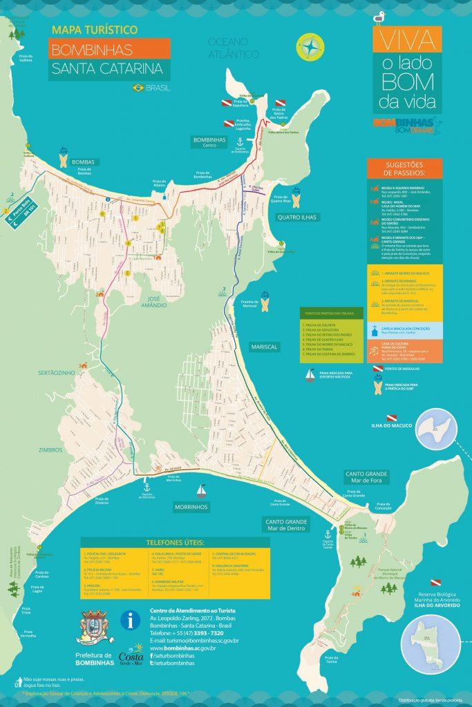 Mapa Turístico Bombinhas